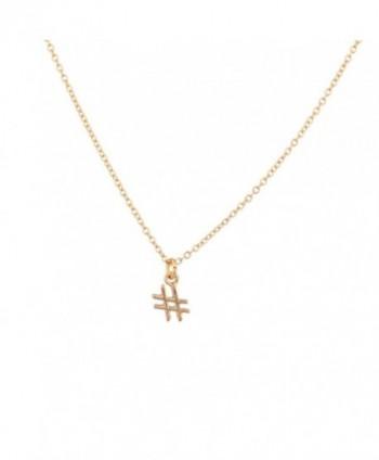 Lux Accessories Hashtag Pendant Necklace - CJ11V1OFVZ5