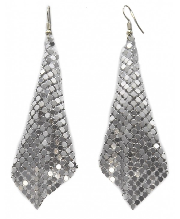 Mesh Dangle Earrings Available in 3 Colors (Gold- Silver- Black) - CA186M43MOY
