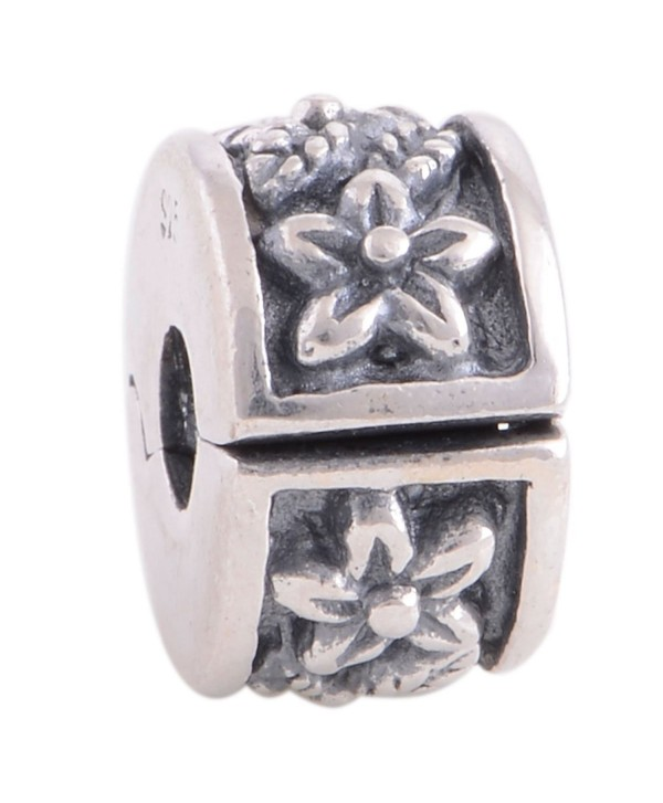 Clip Lock Stopper Charms Authentic 925 Sterling Silver Clips Spacer for 3mm Charms Bracele - Star Leaf - CK17Y0MQZ4A