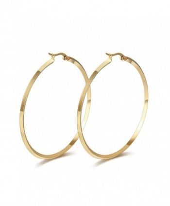 Titanium Stainless Steel Charming Simple Circle Earring with a Gift Box and a Free Small Gift - CC124O3610D