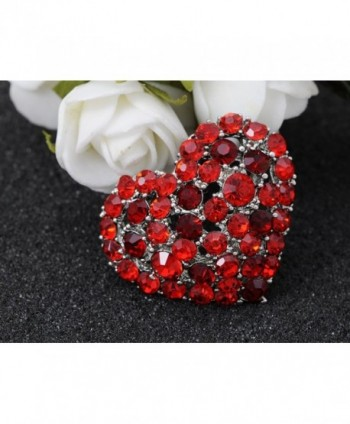 Alilang Crystal Rhinestone Valentine Brooch