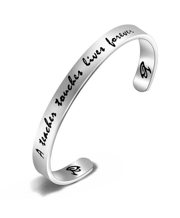 FEELMEM Teachers Bracelet Jewelry Teacher - Silver - CL186D463RC