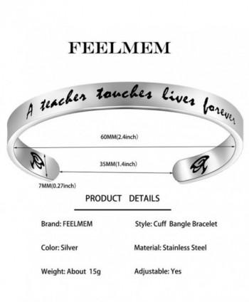 FEELMEM Teachers Bracelet Jewelry Teacher in Women's Cuff Bracelets