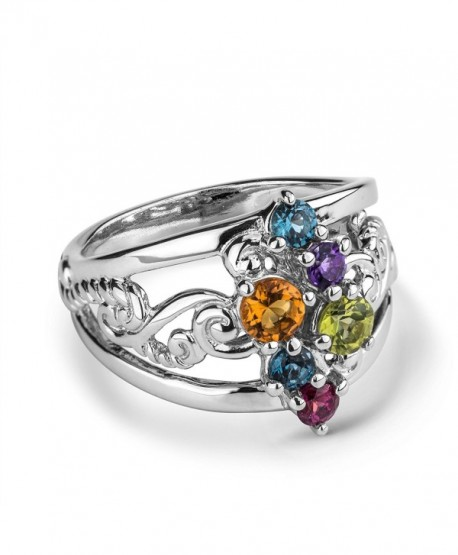 Precious Multi Faceted Stone Cluster Ring - CS186XHIS5C