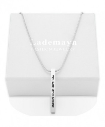 Sunshine Personalized Necklaces Stainless Adjustable in Women's Pendants