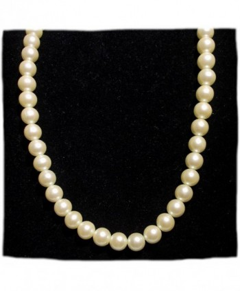"18"" Japanese Faux Pearl Necklace with Brass Closure - CP188LCQ83N"