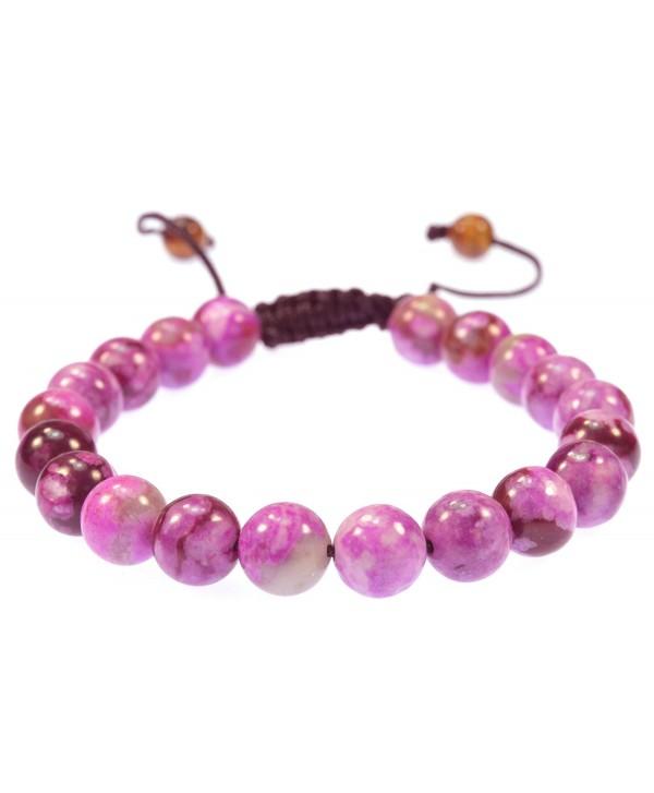 Magenta Jasper Gemstone Bracelet- Good for Healing- Protection and Energy - 91029 - CJ11C8QBRD5