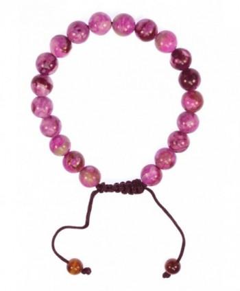 Magenta Gemstone Bracelet Healing Protection