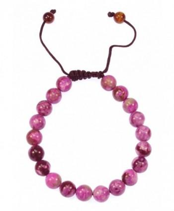 Magenta Gemstone Bracelet Healing Protection in Women's Strand Bracelets