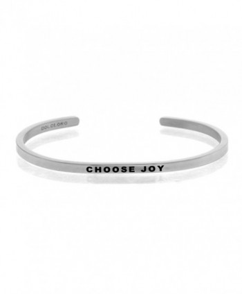 Mantra Phrase: CHOOSE JOY - 316L Surgical Steel Cuff Band - C312N3WOCVM