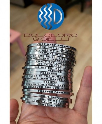 Mantra Phrase CHOOSE Surgical Steel in Women's Cuff Bracelets