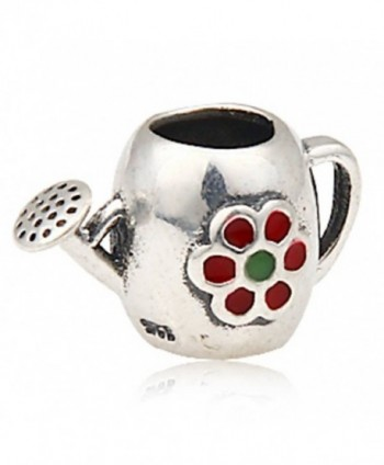 Choruslove Watering Can Charm European Enamel Flower Bead for Compatible Bracelet - CD128YI9CYV