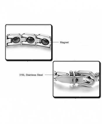 Titanium Magnetic Therapy Bracelet Magnets in Women's Link Bracelets