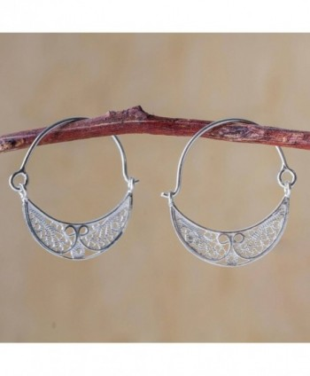 NOVICA Sterling Filigree Endless Earrings