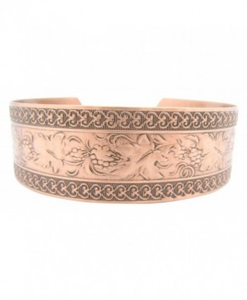 Women's 7 Inch Copper Cuff Bracelet CB1001C1 - 1/2 of an inch wide - CP11WJNB8Z9