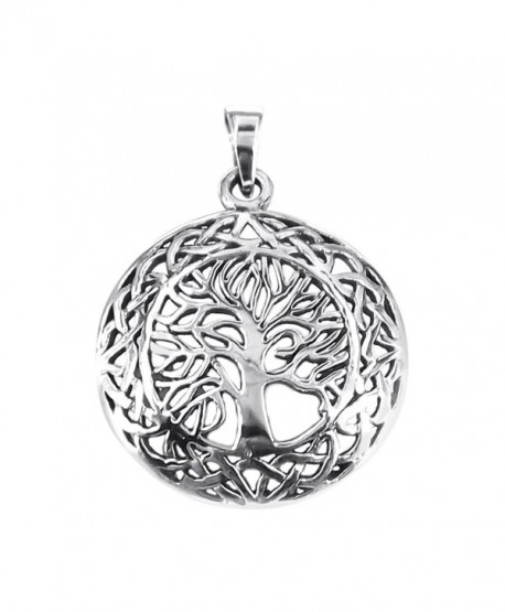 Mystic Celtic Frame Tree of Life .925 Sterling Silver Pendant - CS11J0M6RWB