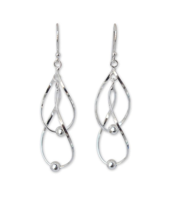 925 Sterling Silver Swirl Dangle Earrings