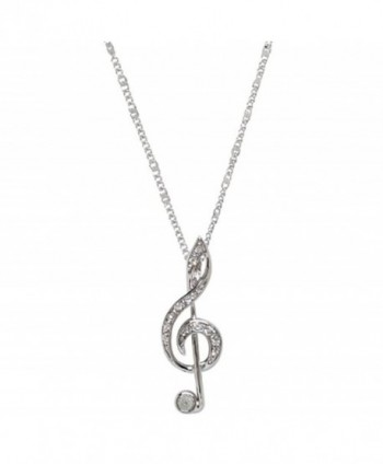 Silver Treble Clef Necklace & Pendant - CX114QNIXCB