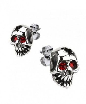 Polished Surgical Stainless Simulated Earrings - C8117L4DC8H