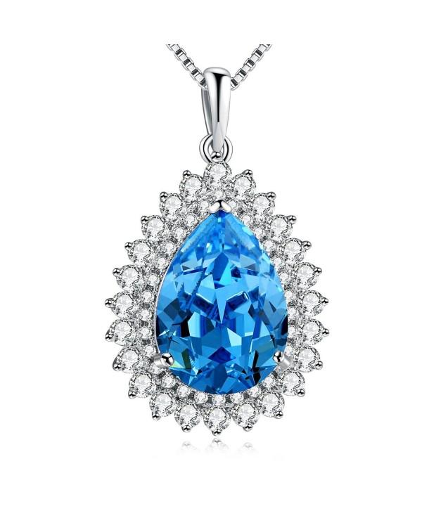 Necklace PLATO Teardrop Neckalce Swarovski - Blue - C812GA2K8VX