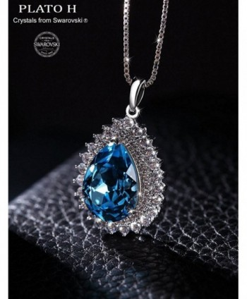 Necklace PLATO Teardrop Neckalce Swarovski