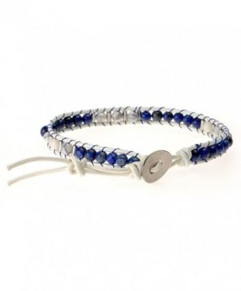 ZLYC Beaded Leather Adjustable Bracelet in Women's Stretch Bracelets