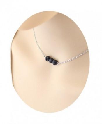 Lava Rock Stone Diffuser Necklace - F: Volcanic Lava - C5188ZQQ52I