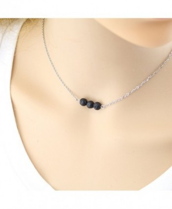 Lava Rock Stone Diffuser Necklace in Women's Pendants