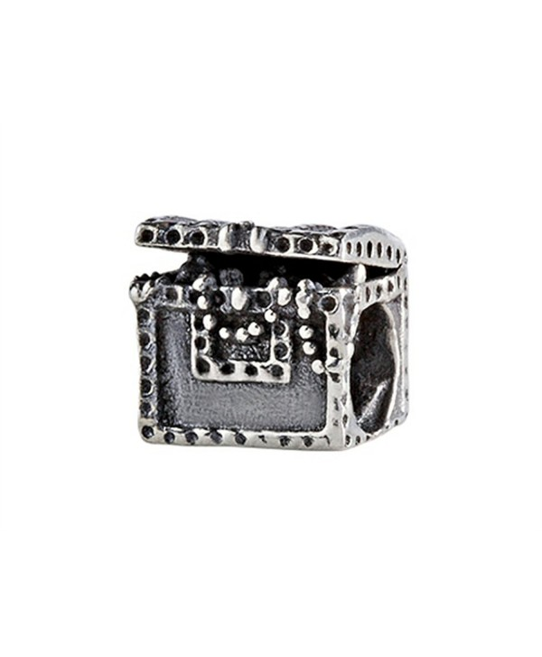 SilveRado Sterling Silver Treasure Chest Bead / Charm - CA115KPCC53
