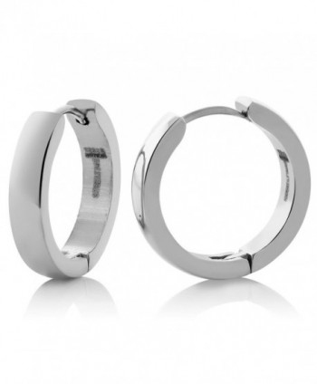 Stainless Steel Round Huggies Hoop Earrings (20MM Diameter & 4MM Width) - CL11G4P1U29