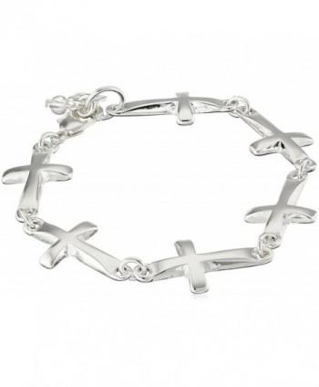 Robert Lee Morris Soho Silver Cross Link Bracelet - CQ11R5C4BDF