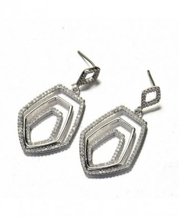 GULICX Crystal Baroque Earrings Zirconia in Women's Drop & Dangle Earrings