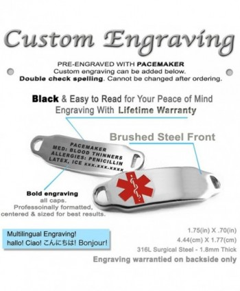 MyIDDr Pre Engraved Customized Pacemaker Bracelet