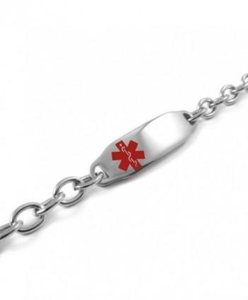 MyIDDr Pre Engraved Customized Pacemaker Bracelet in Women's ID Bracelets