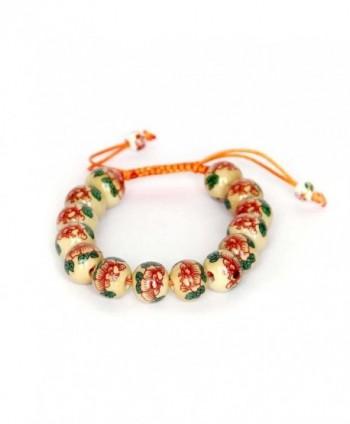 12mm Vintage Style Porcelain Beads Buddhist Wrist Mala Bracelet - CA1188DBVY7
