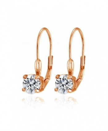Sterling Prong Set Leverback Earrings Swarovski