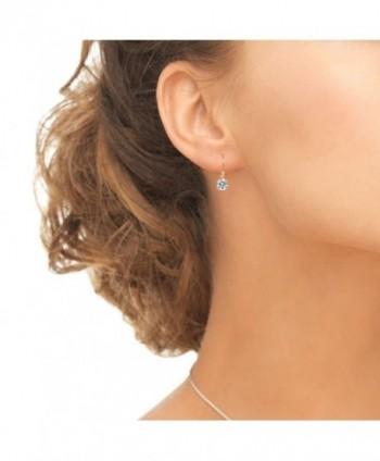 Sterling Prong Set Leverback Earrings Swarovski in Women's Drop & Dangle Earrings