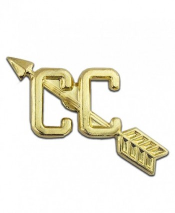 "Cross Country Gold Chenille 1"" Lapel Pin - CK11CE7TNOD"
