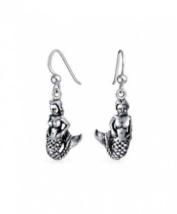 Bling Jewelry Nautical Mermaid Sterling Silver Dangle Earrings - C2116PU4E3P