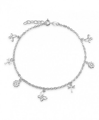 Bling Jewelry Butterfly Sterling Dragonfly in Women's Anklets