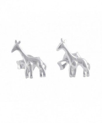 Sterling Silver Small Giraffe Stud Earrings - 6mm - C3184H403ES