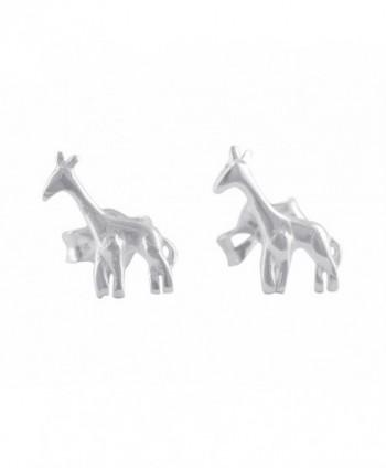 Sterling Silver Small Giraffe Stud Earrings - 6mm - C3184H403ES