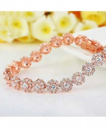 Zirconia Bracelets Diamond Jewelry Christmas in Women's Strand Bracelets