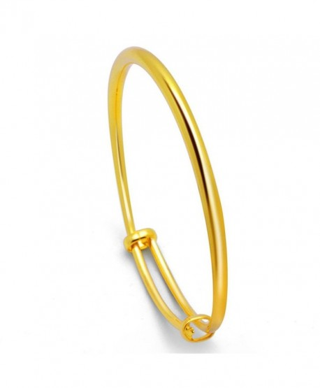 18k Gold Plated Bangle Bracelet Express Your Love to Families- Friends and Lover- Adjustable Bracelets - CL184G5T28R