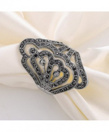 Vintage Marcasites Butterfly Filigree Statement
