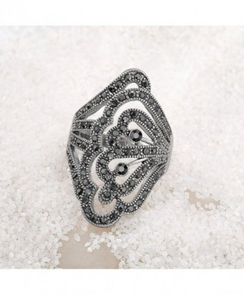 Vintage Marcasites Butterfly Filigree Statement in Women's Statement Rings
