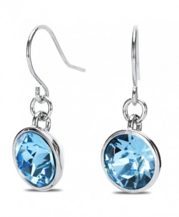 UPSERA Earrings Swarovski Aquamarine Hypoallergenic - C112CX71W2T