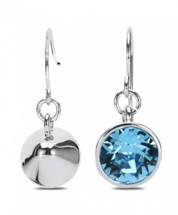UPSERA Earrings Swarovski Aquamarine Hypoallergenic