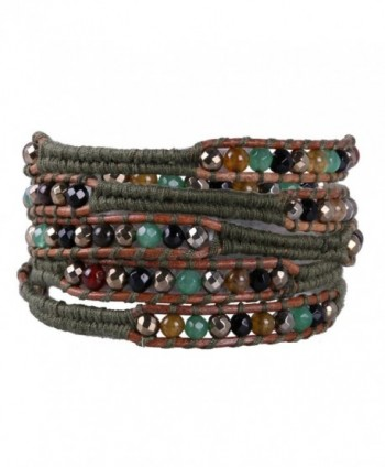 KELITCH Handmade Mix Beaded 5 Wrap Bracelets Handmade Strand bracelet For Gifts - CU1880S9MWX