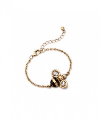 Antiqued Golden Bee Chain Bracelet - CZ182GLEG0I